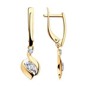 Серьги из золота с фианитами 028148 SOKOLOV