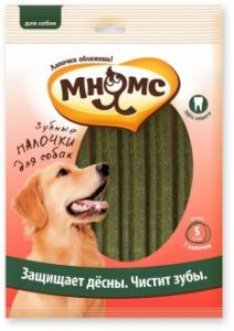 МНЯМС зубные палочки для собак размер S, 7 шт. Х 24 гр, 12 см