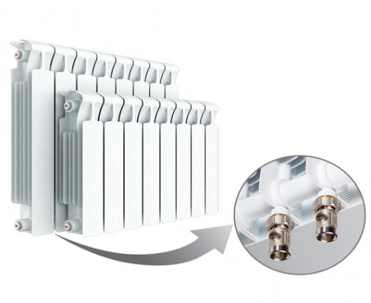 Биметаллический радиатор RIFAR MONOLIT Ventil 500 правое нижнее подключение 8 секции