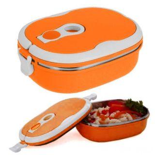 Овальный термо ланч-бокс, 0,9 л, Цвет: Оранжевый