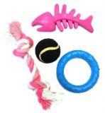 Игровой набор для щенков и собак мелких пород Puppy Toy Set Скелет Рыбки, 4 Предмета