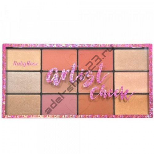 RUBY ROSE - Палитра румян и хайлайтеров Artist Cheek Blush Palette HB-7219