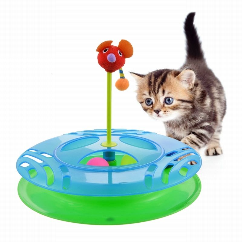 Игрушка трек для кошек с двумя мячиками Cheese Chase