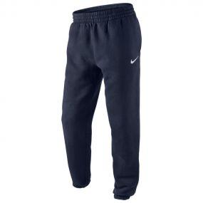Штаны Nike Team Sport Fleece флисовые с манжетами тёмно-синие