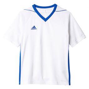 Детская игровая футболка adidas Tiro 17 бело-синяя