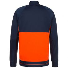 Спортивная кофта adidas Tiro 17 Polyester Jacket тёмно-синия с оранжевым
