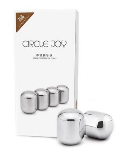 Охлаждающие стальные кубики для напитков Xiaomi Circle Joy Stainless Steel Ice Cubes (4 шт.)