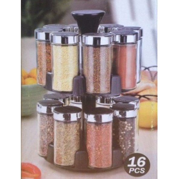 Набор Для Специй 16 Jars Spice Rack Set SJ3218