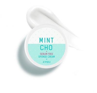 Крем-губка точечный для жирной кожи A'PIEU Mintcho Sebum Free Sponge Cream 50гр