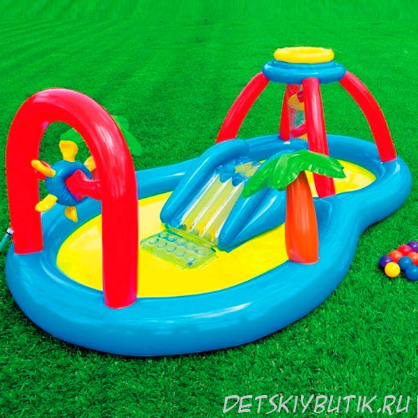 Детский надувной бассейн с распылителем, Intex