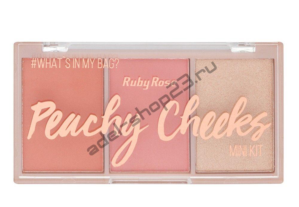RUBY ROSE - палитра румян Peachy Cheeks  НВ-6111