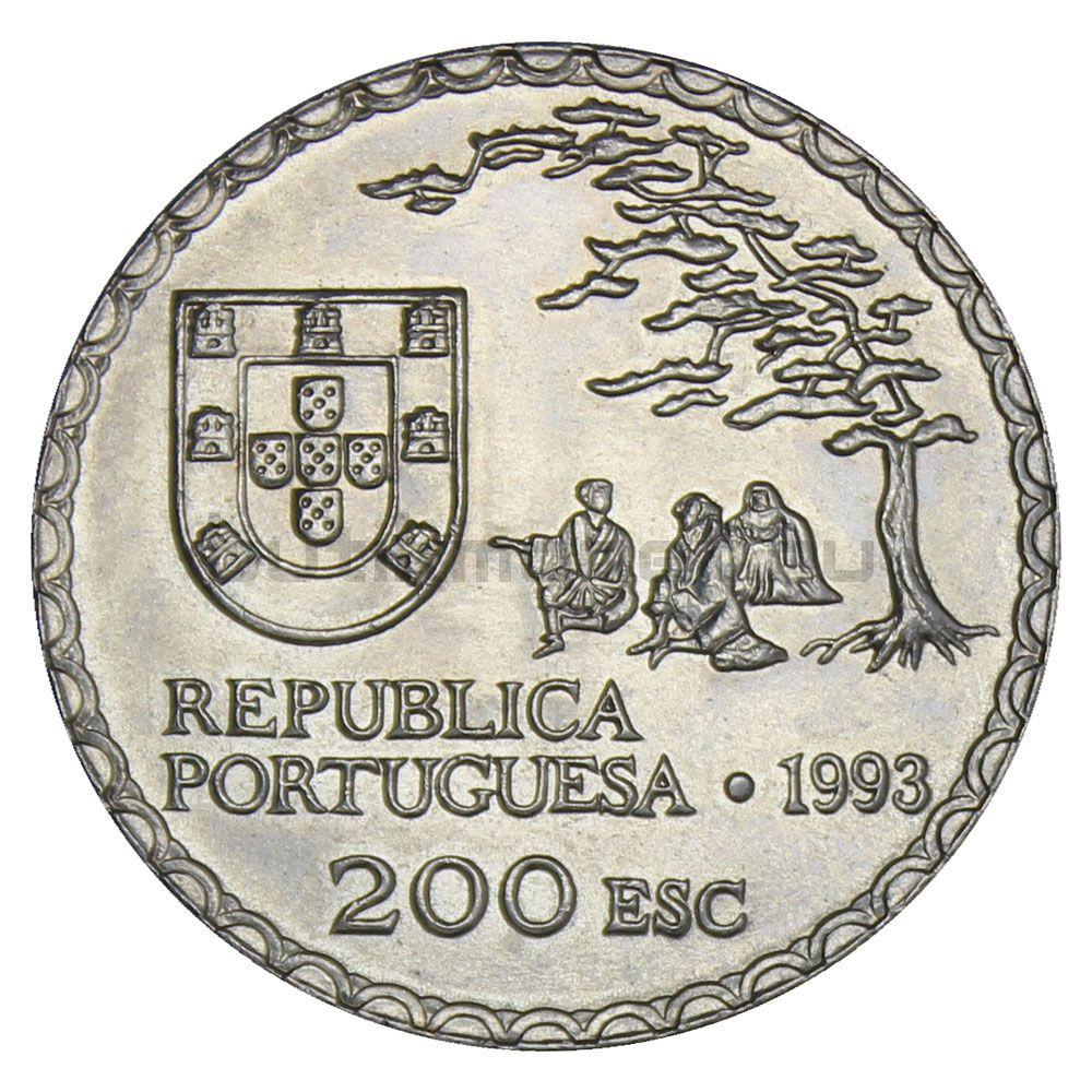 200 эскудо 1993 Португалия 450 лет искусству намбан