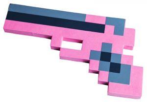 Пистолет Майнкрафт розовый