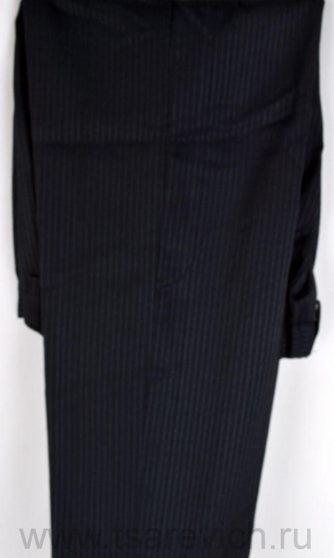 Брюки школьные для мальчика. арт.26599 (черные с серой полоской) 7 шт./уп.