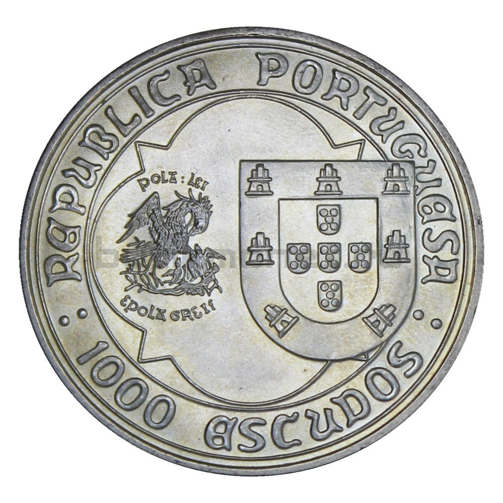 1000 эскудо 1995 Португалия 500 лет со дня смерти Жоао II