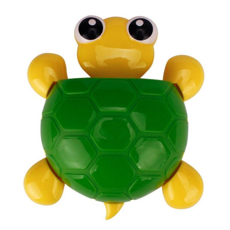 Держатель зубных щёток Черепашка, цвет панциря зеленый