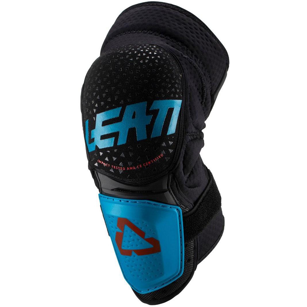 Leatt - 2019 3DF Hybrid Knee & Shin Guard Black/Fuel защита колен, черно-синяя