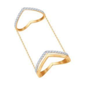 Кольцо на две фаланги SOKOLOV 017060 золото 585