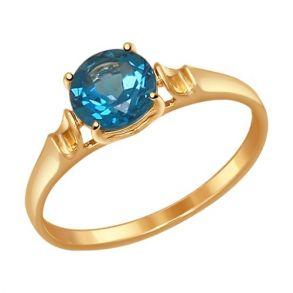 Кольцо из золота с топазом 714488 SOKOLOV
