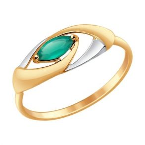 Кольцо из золота с агатом 714636 SOKOLOV