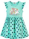 Платье для девочки 3-7 лет Bonito BJ1168P ментоловое