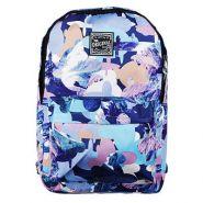 Рюкзак подростковый 45x32x15см, голубой с рисунком, нейлон (арт. 254-140)