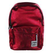 """Рюкзак подростковый, 40x28x16см, 1 отд., 3 кармана, уплотненные лямки, """"сияющий"""" нейлон, красный (арт. 254-206)"""