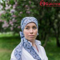 Виктория головной убор с платком и лентами