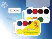 Краски акварельные (8 цветов), пластиковая упаковка (арт. TZ 8080)