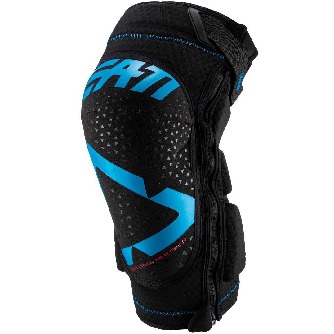 Leatt - 2019 3DF 5.0 Zip Knee Guard Fuel/Black защита колен на молнии, синяя