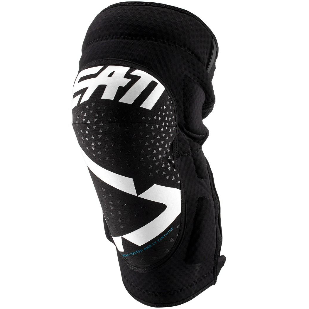 Leatt - 2019 3DF 5.0 Zip Knee Guard White/Black защита колен на молнии, черно-белая