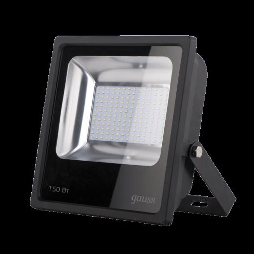 Прожектор Gauss LED Qplus 150W IP65 6500К черный 1/12