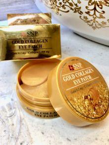 Гидрогелевые патчи с золотом и коллагеном SNP Gold Collagen Eye Patch