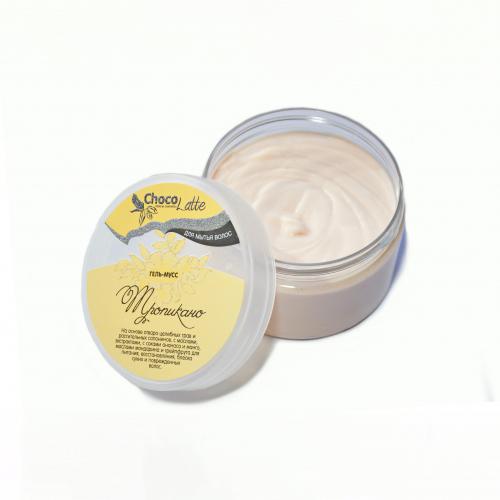 Гель-крем для мытья волос МУСС ТРОПИКАНО с соками ананаса, манго, маслами мандарина и грейпфрута, 280ml