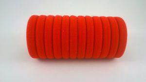 Резинка для волос бесшовная 3 см, цвет № 01 красный (1уп = 24шт)