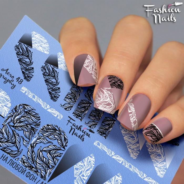 Слайдер дизайн Fashion Nails Aerography #48