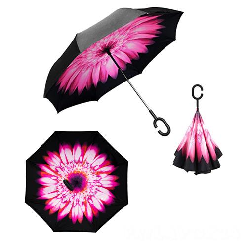 Зонт Наоборот, Розовый цветок