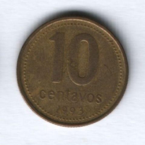 10 сентаво 1993 года Аргентина