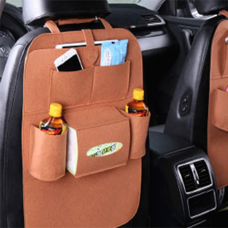 Органайзер для спинки сиденья авто Vehicle Mounted Storage Bag, Цвет-Коричневый