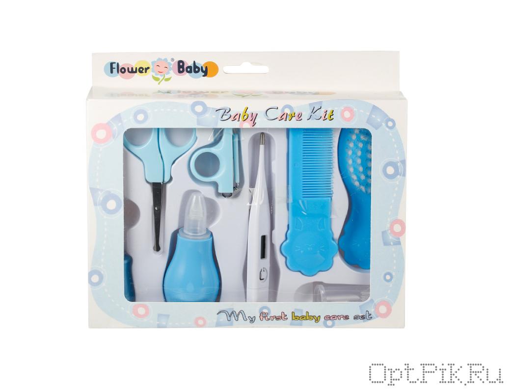 Гигиенический набор для ухода за малышом. Голубой цвет