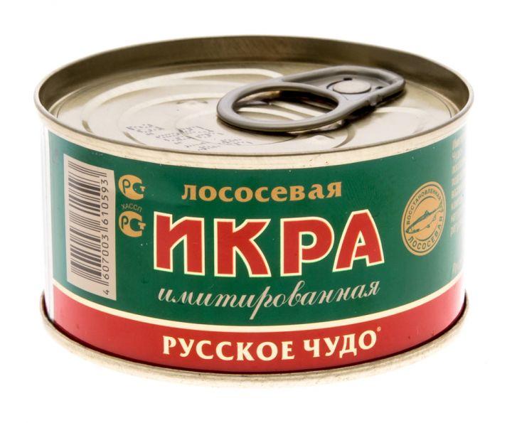 Икра Русское чудо 120г Лососевых рыб имитир. Посейдон