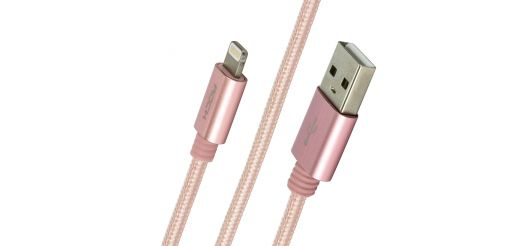 Кабель USB/Lightning Rock MFI Charge & Sync Round Cable II 1800mm