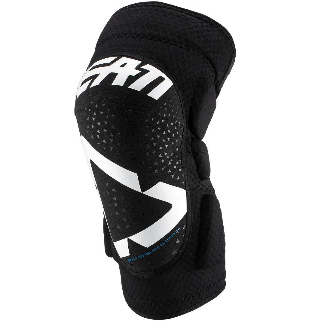 Leatt - 2019 3DF 5.0 Knee Guard White/Black защита колен, черно-белая