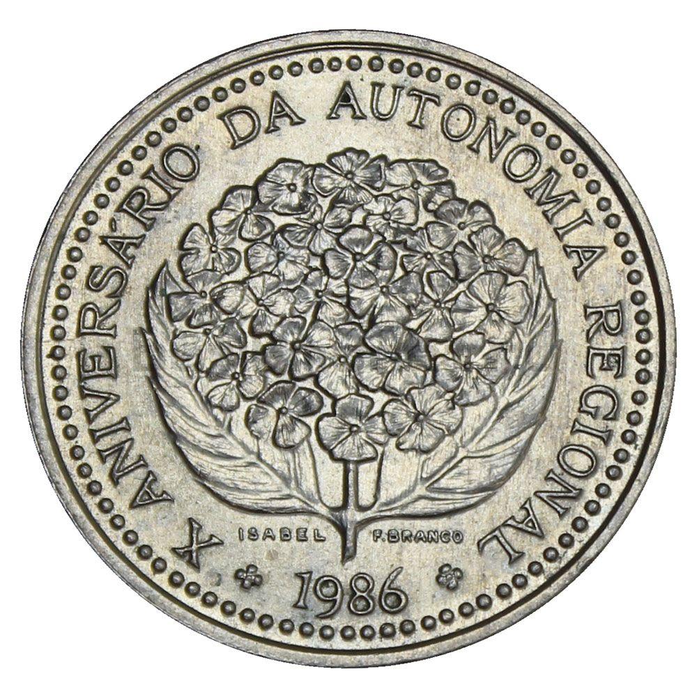 100 эскудо 1986 Португалия 10 лет автономии Азорских островов