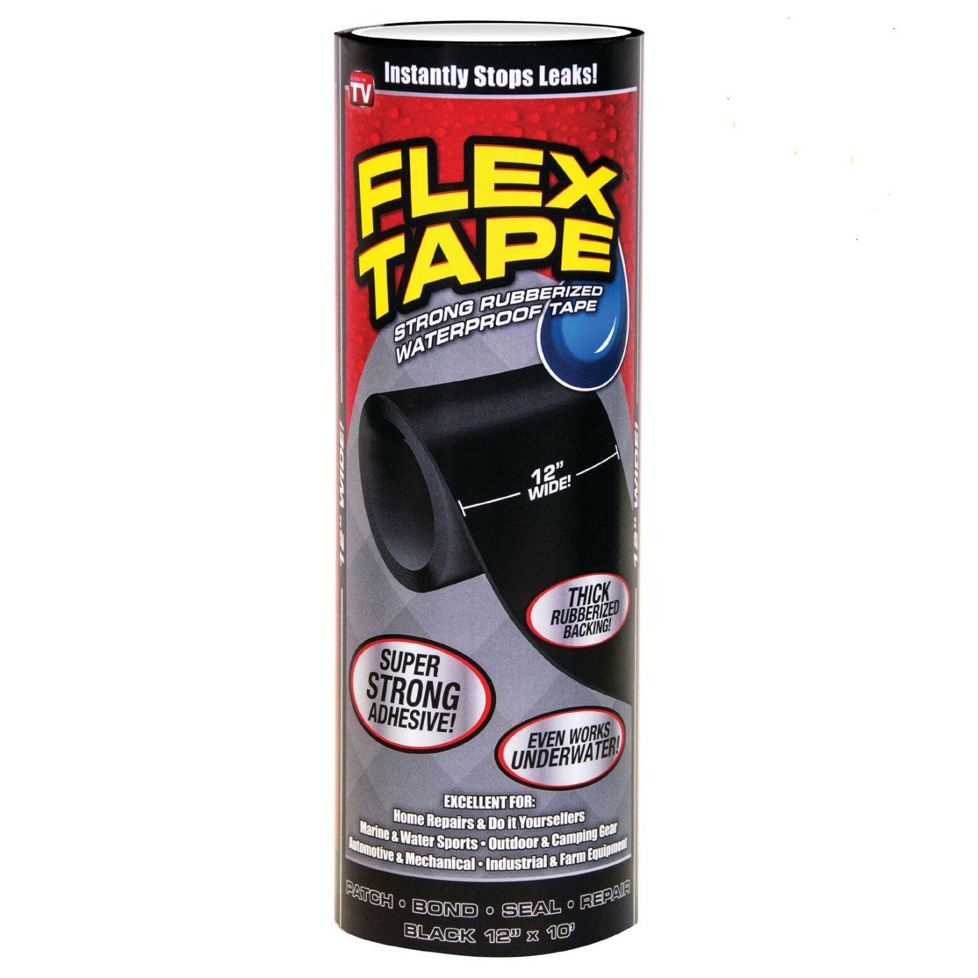 Сверхсильная клейкая лента Flex Tape, 18 см, Чёрный