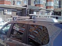 Багажник на рейлинги Nissan Terrano, Евродеталь, крыловидные дуги