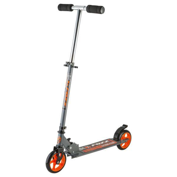 Самокат FOXX EXSTREME POWER сталь серо-оранжевый Novatrack