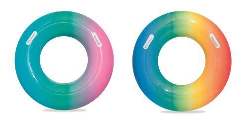 Надувной круг Радуга с ручками 91 см, 2 цвета в ассортименте