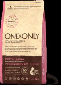O&O Puppy Turkey&Rice 12 кг (индейка с бурым рисом для щенков)