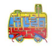 Деревянная игрушка. Лабиринт с шариками АВТОБУС (арт. ИД-7761)